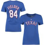 Majestic Prince Fielder Texas Rangers Women's Royal Name & Number T-Shirt