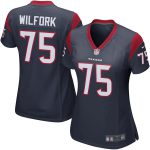 Nike Vince Wilfork Houston Texans Women's Navy Blue Game Jersey