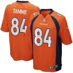 Nike Jacob Tamme Denver Broncos Youth Orange Team Color Game Jersey
