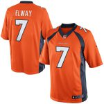 Nike John Elway Denver Broncos Orange Retired Player Limited Jersey