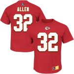 Majestic Marcus Allen Kansas City Chiefs Red Hall of Fame Eligible Receiver II Name & Number T-Shirt
