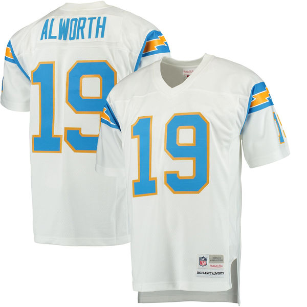 Mitchell & Ness Lance Alworth San Diego Chargers White Replica Retired Player Jersey