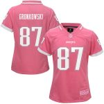 Rob Gronkowski New England Patriots Girls Youth Pink Bubble Gum Jersey