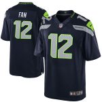 Nike Fan 12 Seattle Seahawks Youth College Navy Team Color Game Jersey