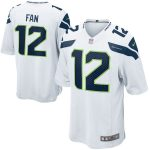 Nike Fan 12 Seattle Seahawks White Alternate Game Jersey
