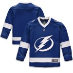 Fanatics Branded Tampa Bay Lightning Youth Blue Home Replica Blank Jersey