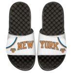 ISlide New York Knicks White Home Jersey Split Slide Sandals