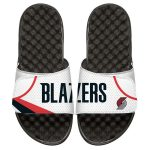 ISlide Portland Trail Blazers White Home Jersey Split Slide Sandals