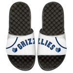 ISlide Memphis Grizzlies White Home Jersey Split Slide Sandals