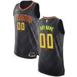 Nike Atlanta Hawks Black Authentic Custom Jersey - Icon Edition