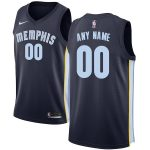 Nike Memphis Grizzlies Navy Swingman Custom Jersey - Icon Edition