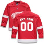 Fanatics Branded Detroit Red Wings Youth Red Home Replica Custom Jersey