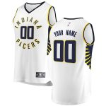 Fanatics Branded Indiana Pacers White Fast Break Custom Replica Jersey - Association Edition