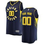 Fanatics Branded Indiana Pacers Navy Fast Break Custom Replica Jersey - Icon Edition