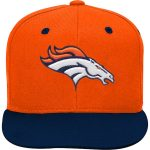 Denver Broncos Youth Orange/Navy Two-Tone Flatbrim Snapback Adjustable Hat