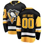 Fanatics Branded Pittsburgh Penguins Black Home Breakaway Custom Jersey
