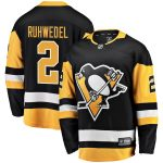 Fanatics Branded Chad Ruhwedel Pittsburgh Penguins Black Home Breakaway Player Jersey