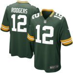 Nike Aaron Rodgers Green Bay Packers Youth Green Game Jersey