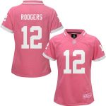 Aaron Rodgers Green Bay Packers Girls Youth Pink Bubble Gum Jersey