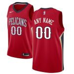 Nike New Orleans Pelicans Red Custom Swingman Jersey - Statement Edition