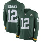 Nike Aaron Rodgers Green Bay Packers Green Therma Long Sleeve Jersey
