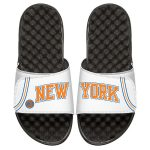 ISlide New York Knicks Youth White Statement Jersey Split Slide Sandals
