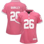 Saquon Barkley New York Giants Girls Youth Pink Bubble Gum Jersey