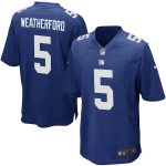 Nike Steve Weatherford New York Giants Youth Royal Blue Team Color Game Jersey