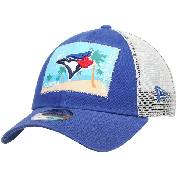 low priced a2b39 d75f6 New Era Toronto Blue Jays Royal White Patched Trucker 3 9FORTY Adjustable  Snapback Hat - Gear Up For Sports