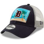 New Era Detroit Tigers Navy/White Patched Trucker 3 9FORTY Adjustable Snapback Hat