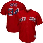 Majestic David Ortiz Youth Scarlet Official Cool Base Player Jersey