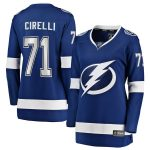 Fanatics Branded Anthony Cirelli Tampa Bay Lightning Women's Blue Home Breakaway Player Jersey