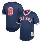 Mitchell & Ness Ted Williams Boston Red Sox Youth Navy Cooperstown Collection Mesh Batting Practice Jersey