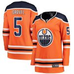 Fanatics Branded Kevin Gravel Edmonton Oilers Women's Orange Home Breakaway Player Jersey