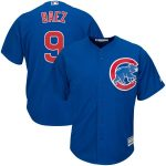 Majestic Javier Baez Chicago Cubs Royal Alternate Official Cool Base Player Jersey