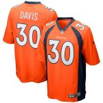 Nike Terrell Davis Denver Broncos Orange Retired Player Game Jersey