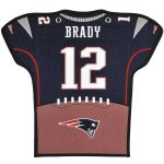 Tom Brady New England Patriots 14'' x 22'' Jersey Traditions Banner - Navy/White