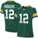 Nike Aaron Rodgers Green Bay Packers Girls Youth Green Game Jersey