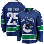 Fanatics Branded Jacob Markstrom Vancouver Canucks Blue Breakaway Player Jersey
