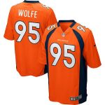 Nike Derek Wolfe Denver Broncos Youth Orange Team Color Game Jersey