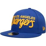 New Era Los Angeles Chargers Blue Omaha Wordmark 59FIFTY Fitted Hat