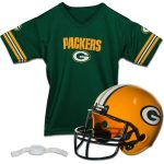 Franklin Sports Green Bay Packers Youth Helmet and Jersey Set
