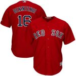 Majestic Andrew Benintendi Boston Red Sox Youth Scarlet Alternate Official Cool Base Replica Player Jersey