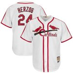Majestic Whitey Herzog St. Louis Cardinals White Cooperstown Collection Cool Base Player Jersey