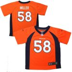 Nike Von Miller Denver Broncos Toddler Orange Game Jersey