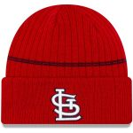 New Era St. Louis Cardinals Red Primary Logo On-Field Sport Cuffed Knit Hat