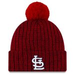 New Era St. Louis Cardinals Red Color Twist Cuffed Knit Hat with Pom