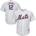 Majestic Juan Lagares New York Mets Youth White Cool Base Player Jersey