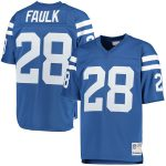 Mitchell & Ness Marshall Faulk Indianapolis Colts Royal Retired Player Replica Jersey