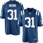 Nike Donald Brown Indianapolis Colts Youth Royal Blue Team Color Game Jersey